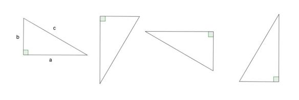 4 rt. triangles